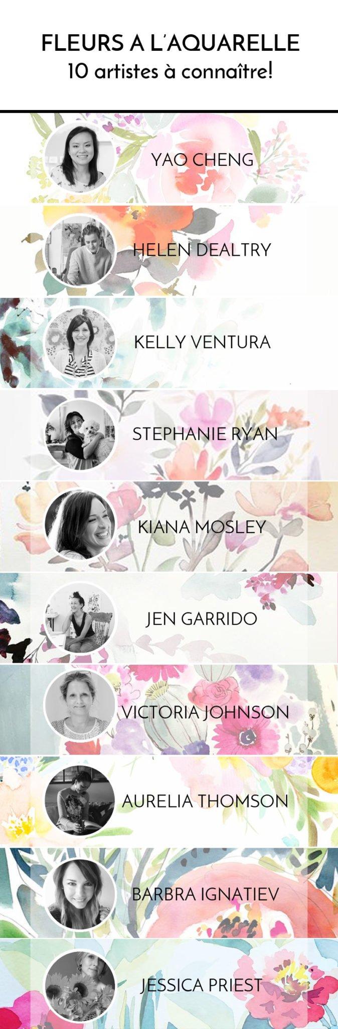 Préférence Fleurs à l'aquarelle: 10 artistes que vous devez connaitre XR08